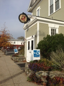 2nd Story Theater, located in Warren, Rhode Island, urges voters to select 'yes' on Question five